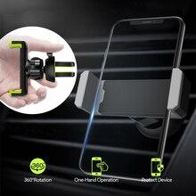 Universal Car Supporto Del Telefono in Auto Air vent Supporto del supporto per iphone 6 7 8 Più di X XS XR MAX Supporto Mobile dellautomobile del telefono del supporto del basamento