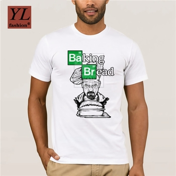 Fashion New Casual Baking Bread T Shirt Man Novelty Breaking Bad Cook Heisenberg Graphic