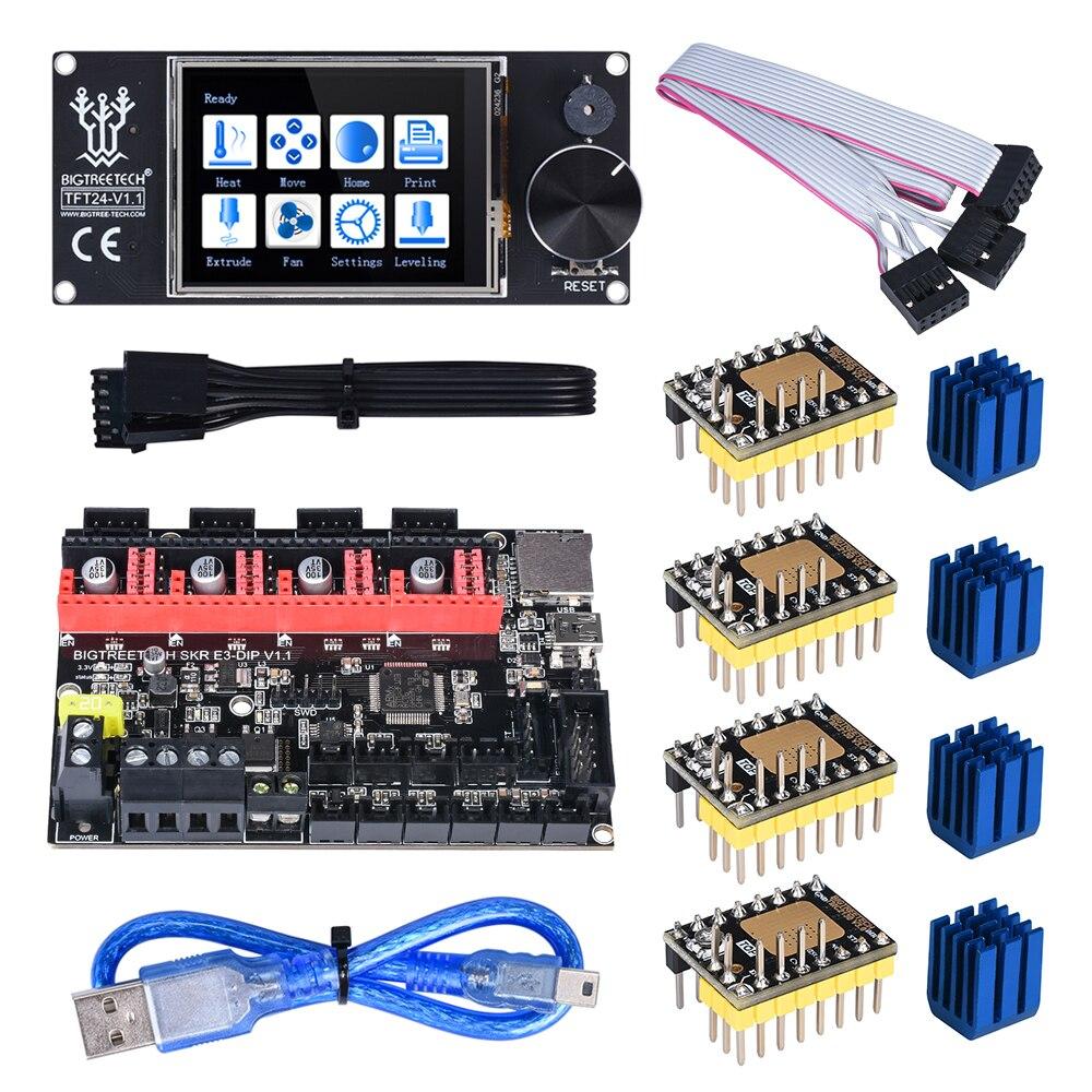 BIQU BIGTREETECH SKR E3 DIP V1.1 32 Bit Control Board With TFT24 TMC2208 UART TMC2130 SPI Driver For Ender 3/5 Pro