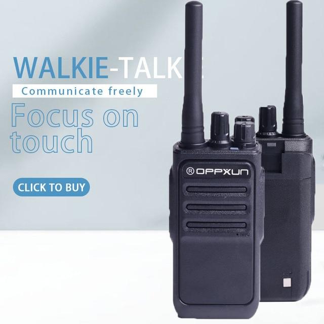 OPPXUN OPX-338 Walkie Talkie UHF 400-470 MHZ Portable Ham Radio Station 8W Long Range for Hunting Telsiz Two Way Car Cb Radio 4