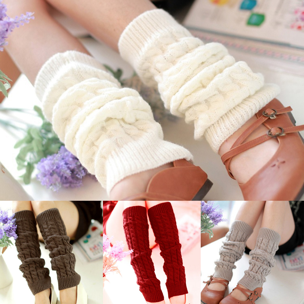 Autumn Winter Fashion Knitted Crochet Soft Socks Crochet Long Boots Stockings Hot Sale High Knee Leg Warmers Long Socks Leggings
