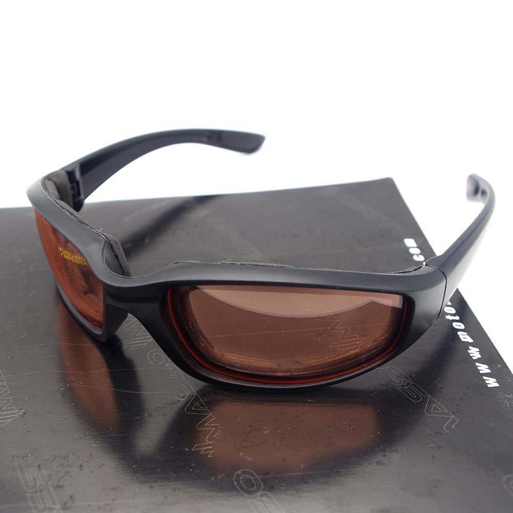 Motorcycle Goggles Black Frame Glasses Polarized For kawasaki ninja 250r zx9r vulcan 800 er5 vulcan 1500 z750 vn 800