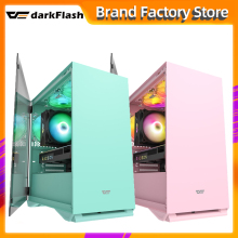 Darkflash DLM22 desktop-computer fall rosa gabinete pc gamer completo mini matx/itx htpc chassis Gehärtetem glas gaming pc fall