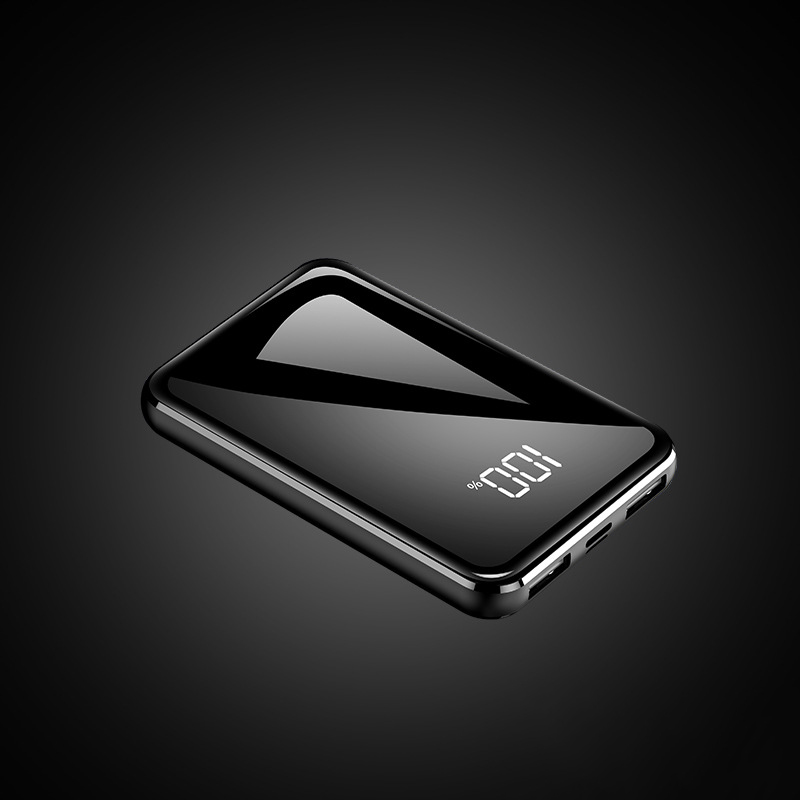 Внешний аккумулятор для xiaomi mi iPhone, USAMS mi ni Pover Bank, 20000 мА/ч светодиодный дисплей, внешний аккумулятор, повербанк, быстрая зарядка - Цвет: Черный