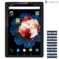 BDF New 10.1 Inch 3G 4G LTE Phone Call SIM Card Octa Core FM WiFi Tablet Pc Android 9.0 WIFI Bluetooth 2GB+32GB IPS LCD Display
