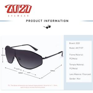 Image 3 - 20/20 New Arrival Vintage Brand Alloy Polarized Sunglasses Men Gradient Oversize Lens For Women Design AK17157
