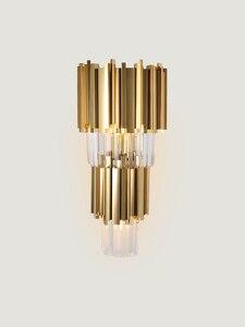 Pós-moderna lâmpada de parede do hotel lobby sala de estar estrela ouro corredor quarto cabeceira restaurante desenho stady led parede luz