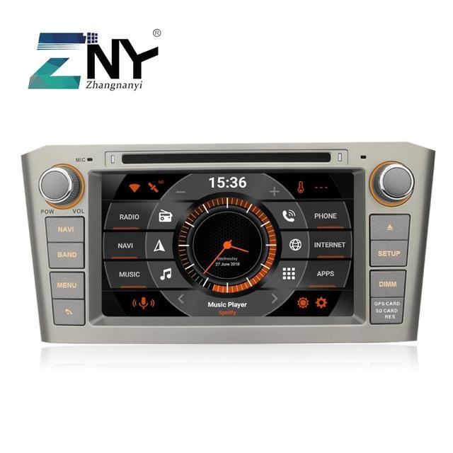 "7 ""Android 10รถDVDสำหรับAvensis T25 2003 2004 2005 2006 2007 2008วิทยุRDS GPS Navigation AudioวิดีโอHeadunitกล้องสำรอง"