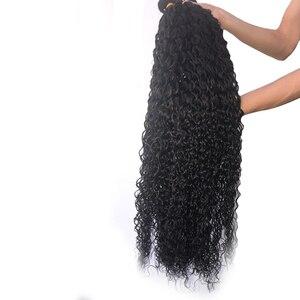 Queenlife 30 32 34 36 дюймов Волнистые пряди бразильские человеческие волосы для наращивания 1/3/4 пряди волнистые волосы Remy пряди