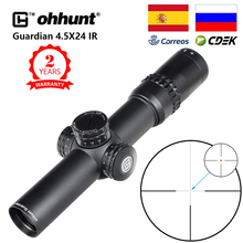 Ohhunt Guardian 4.5x24 polowanie Rifle Scope 30mm Tube Tactical Optics Sight 1/2 pół Mil Dot Reticle Turrets Reset luneta