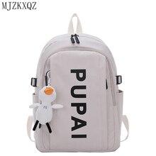 Mjzkxqz Women Backpacks Korean Harajuku Large-Capacity Ladies Multi-Pockets For School