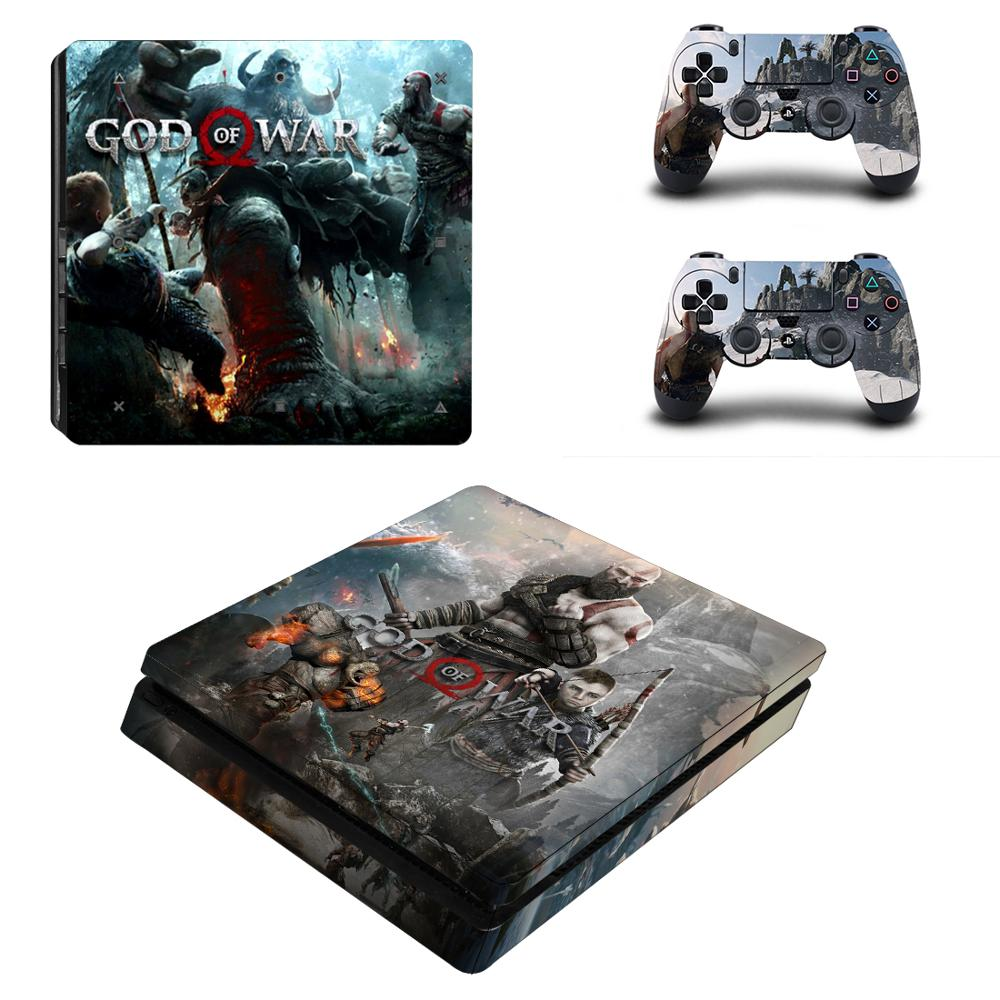God of War 3 Full Cover Faceplates PS4 Slim Skin Sticker Decal Vinyl for Playstation 4 Console & Controller PS4 Slim Sticker image