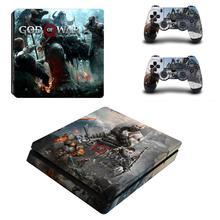 Для версии Бога Войны 3 Полное покрытие лицевые панели PS4 тонкая кожа Стикеры Виниловая наклейка для Playstation 4 консоли и контроллер PS4 тонкий Стикеры
