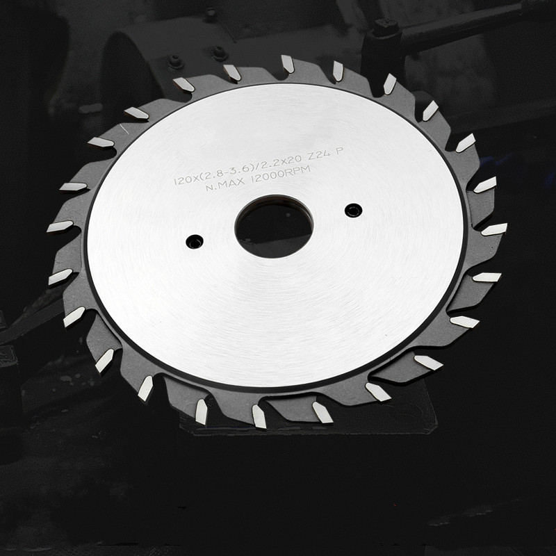 Circular Saw Blade Tungsten Carbide Tipped Scoring Saw Blades Split Scoring Blades For Panel Thickness Adjustment Teeth 2x12T
