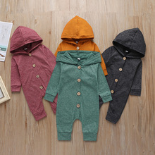 Baby Clothes Hooded Solid color Baby Rom