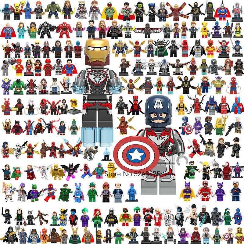 Marvel Avengers 4 Endgame Super Heroes Iron Man Captain America Thor Spiderman Thanos Bouwstenen Figures Kinderen Speelgoed Geschenken