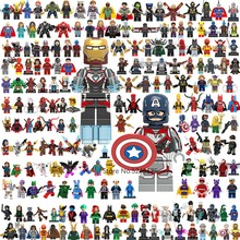 Marvel Avengers 4 Endgame Super héros Iron Man Captain America Thor Spiderman Thanos blocs de construction figurines enfants jouets cadeaux(China)