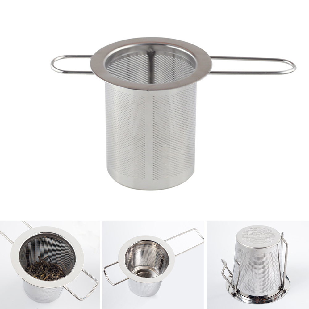 Silver Color Reusable Stainless Steel Tea Strainer Infuser Filter Basket Mesh Tea Infuser Filter Herbal Ball Tea Tools #734