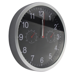 Image 4 - HLZS 3 in 1 Silent Quartz Wall Clock Quiet Sweep Movement Thermometer Hygrometer No Ticking Home Art Decor Wall Clock