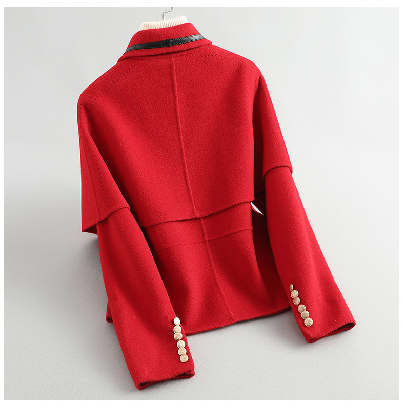 Elegant Ladies 100% Wool Coat Female Spring Autumn Manteau Femme Hiver 2020 Korean Vintage Office Blend Woolen Jacket W05