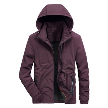 Windproof Fleece warm winter hooded jacket coat Men's comfortable Clothes breathable loose casual blouse zipper tops plus size