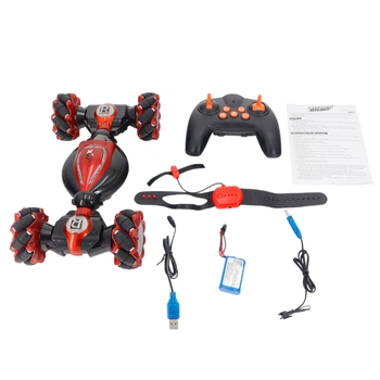 RC Stunt Car Double Side Driving Gesture Induction Twisting Off-Road Vehicle Climbing Car Light Music Drift Toys