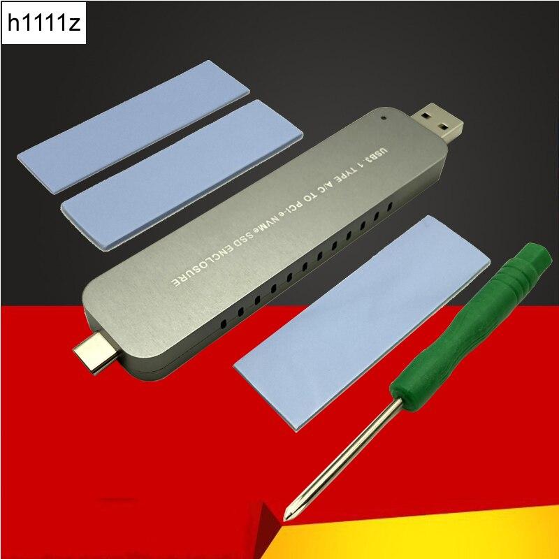 Caixa de Disco Nvme para Usb3.1 Adaptador para 2242 Case Gabinete Caixa M.2 Pci-e Tipo-a Tipo-c Rígido 2260 2280 m2 Ssd –