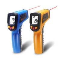 Portatif Sans contact Thermomètre Infrarouge Infrarouge Numérique LCD Laser Pyromètre Température Mètre Imageur C F Rétro-Éclairage-50 ~ 600C
