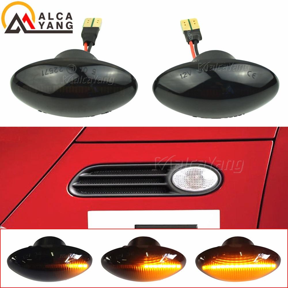 2x dinâmico led lado marcador luz fluindo repetidor lado lâmpada erro livre painel lâmpada para bmw para mini cooper r50 r52 r53 2002-2008