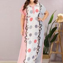 Maxi-Dress Ramadan-Robe Kaftan Abaya Moroccan-Gown Plus-Size Women Casual Summer VKDR2118