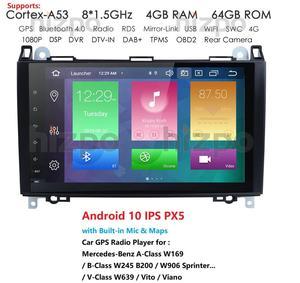 9 ''PX5 Android 10 2 Din автомобильное радио для Mercedes Benz B200 Sprinter W906 W639 AB Class W169 W245 Viano Vito радио GPS Navi 4GB