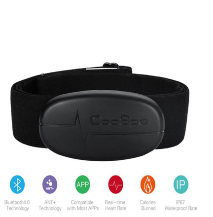 H6 Smart Sensor Chest Strap ANT V4.0 Wireless Sport Heart Rate Monitor Fitness For Mobile Cell Phone Black