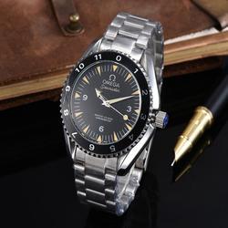 Топ бренд Роскошные автоматические механические часы мужские часы керамика сапфир светящийся календарь механические часы 007 9611