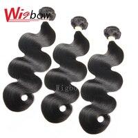 Wigbow OneCut Hair Brazilian Body Wave Hair Bundles Human Hair Extensions Natual Color 8 28 Inch P Remy Hair Bundles