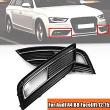 8K0807681K 8K0807682K Front Bumper Fog Light Lamp Grill Grilles Cover For Audi A4 B8 Facelift 2012 2013 2014 2015