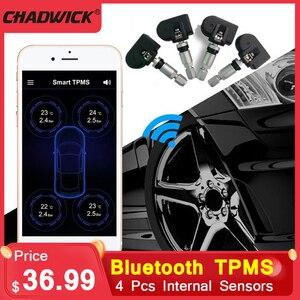 Стабильный универсальный детектор давления в шинах TPMS, Bluetooth, TPMS, автомобильный мобильный телефон, приложение обнаружения, 4 внутренних датч...