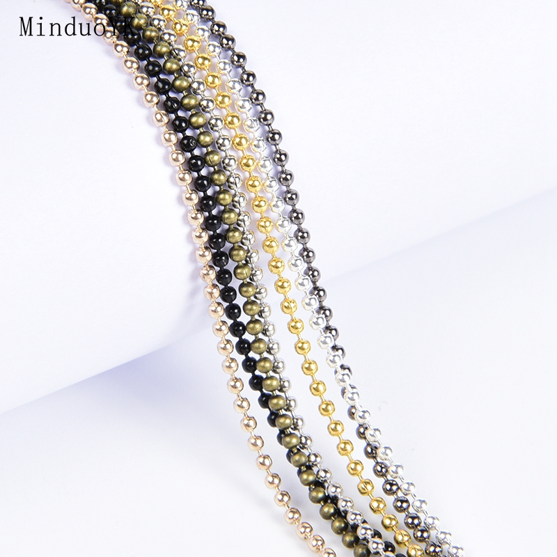 5 Meter Metal Alloy Ball Beads Chains Accessories For Necklaces DIY Jewelry Making Findings