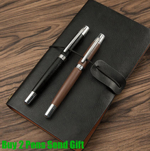 Free Shipping High Quality Leather Shape Roller Ballpoint Pen Best Quality Luxury Business Signature Pen Buy 2 Pens Send Gift цены онлайн
