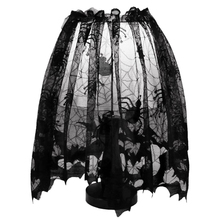 Big deal Halloween Black Lace Bat Spiderweb Lamp Shade Topper Curtains Swag Haunted House Decor