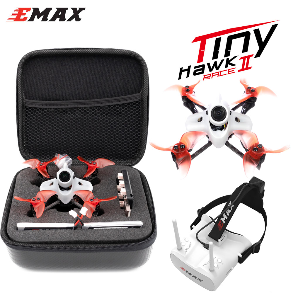 Emax TINY II Race Indoor Carbon FPV Racing Drone With F4 FC/1103 7500KV motor/Runcam Nano 2 Camera Support 5.8G FPV Glasses
