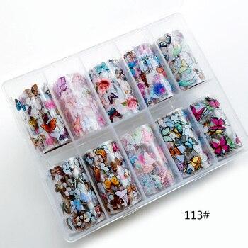 1set/lot 2.5*100cm Butterfly Spring Mix Flower Starry Sky Nail Foils set Transfer Sticker DIY Manicure Decoration Decals - 113