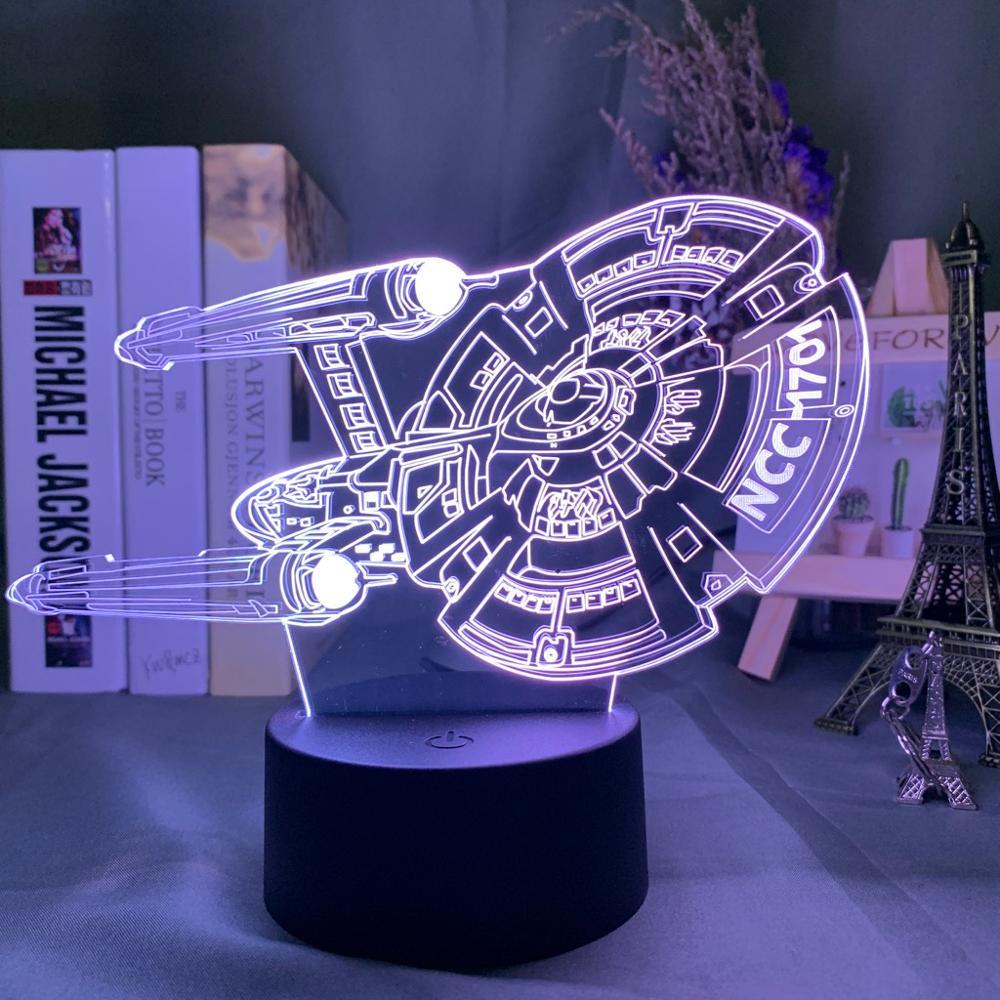Model 3D Night Light Star Trek Include 7 Colors Change As Boys' And Girls' Festival Gift For Bedroom