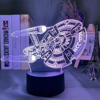 Model 3D Night Light Star Trek Include 7 Colors Change As Boys' And Girls' Festival Gift for Bedroom цена 2017