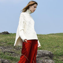 Женский пуловер вязаный кашемировый свитер 100% Женская Повседневная