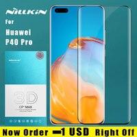 Nillkin para huawei companheiro 30 pro 20 20 x vidro temperado 3d cp + max capa completa protetor de tela filme para huawei companheiro 30 pro vidro