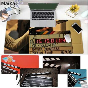 clapperboard movie spotlight Player desk laptop Rubber Mouse Mat Size for large Edge Locking Speed Version Game Keyboard Pad