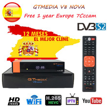 DVB-S2 FTA Gtmedia V8 NOVA Satellite TV Receiver Built-in wifi Freesat with Free Europe Cline H.265 gt media v8 nova