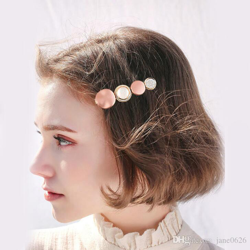 2019 Fashion Hair Clips For Women Fashion Sweet Girl Simple Korean Style Hairpin Alloy BB Handmade INS Headband Hair Accessories