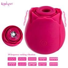 NEW Rose Shape Vagina Sucking Vibrators Intimate Goods Nipple Sucker Oral Clitoris Stimulation Powerful Sex Toys Women Vibrating