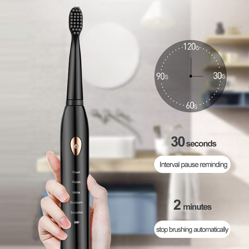 Sonic Toothbrush Adults Electric Toothbrush Rechargeable 4 8 Tooth Brush Heads Oral Nozzle For Toothbrush Dental Sound